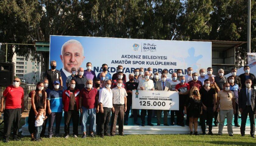 Akdeniz Belediyesinden 34 amatör spor kulübüne 125 bin TL destek