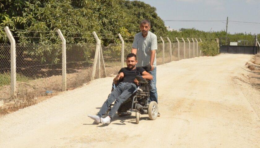 Büyükşehir Belediyesinden engelli Atakan için yol çalışması