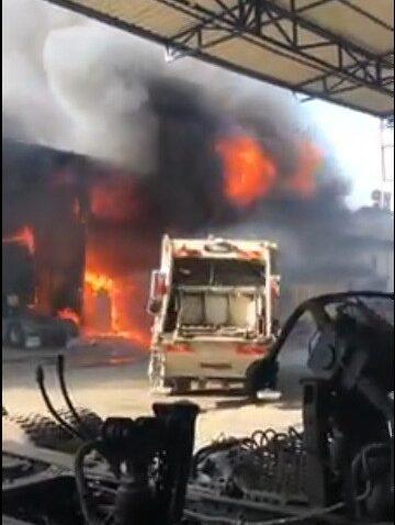 Mersin'de sanayi sitesinde yangın