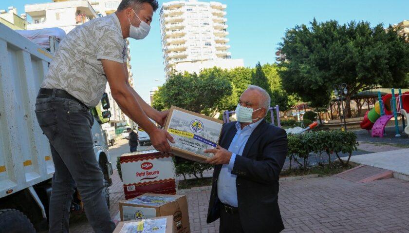 Erdemli Belediyesinden İzmirli depremzedelere destek
