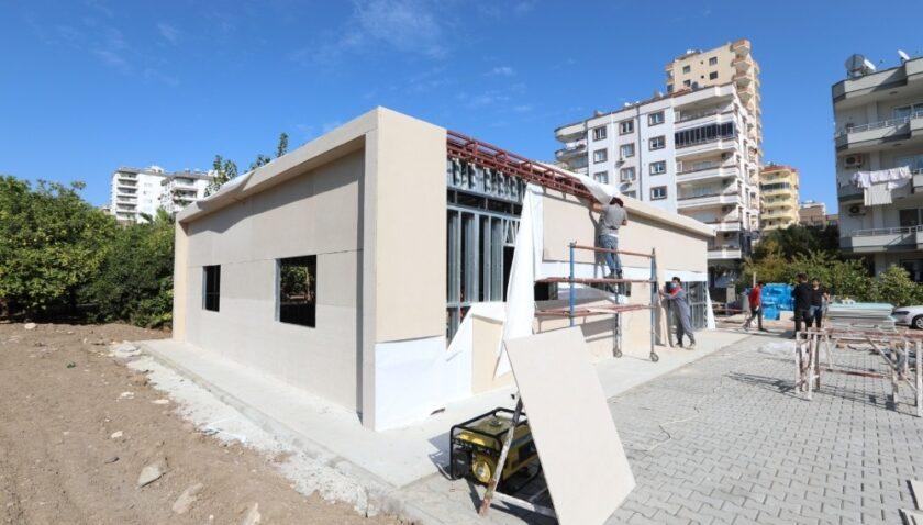 Mezitli Belediyesi Basın Evi bu ay sonu tamamlanıyor
