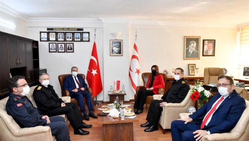 Vali Su, KKTC Mersin Başkonsolosu Mendeli'yi ziyaret etti