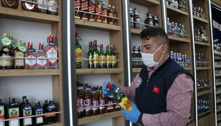 Mersin'de yılbaşı öncesi sahte alkol denetimi