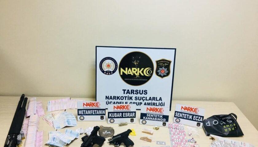 Tarsus'ta uyuşturucu operasyonunda 2 tutuklama