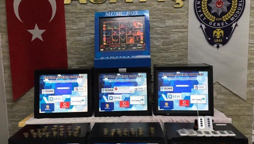 Polise yakalanmamak için özel kumar makinesi yapmışlar