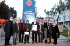 Başkan Gültak, milli futbolcu Sinan Tanış'ın ailesiyle adının verildiği parkta buluştu