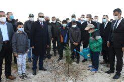 Mersin'de 200 fidan toprakla buluştu