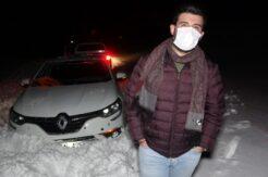 Mersin'de otomobili kara saplanıp mahsur kalan vatandaş 3 saatte kurtarıldı