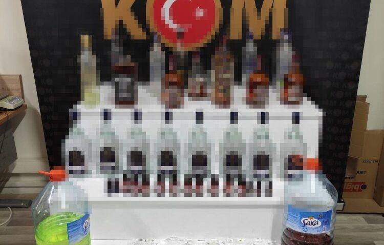 Silifke'de 39 litre sahte içki ele geçirildi