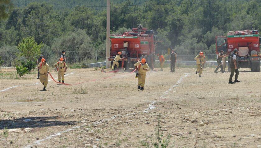 Mersin'de yangın tatbikatı