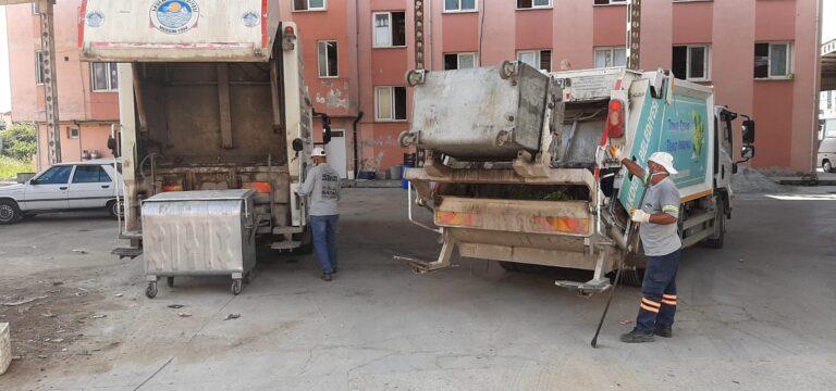 Akdeniz'de genel temizlik ve dezenfekte çalışmaları aralıksız sürüyor