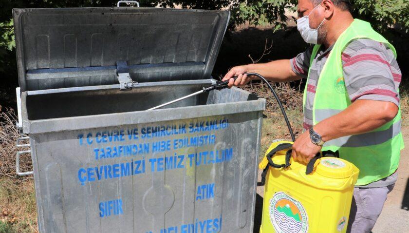Toroslar'da dezenfekte çalışmaları devam ediyor