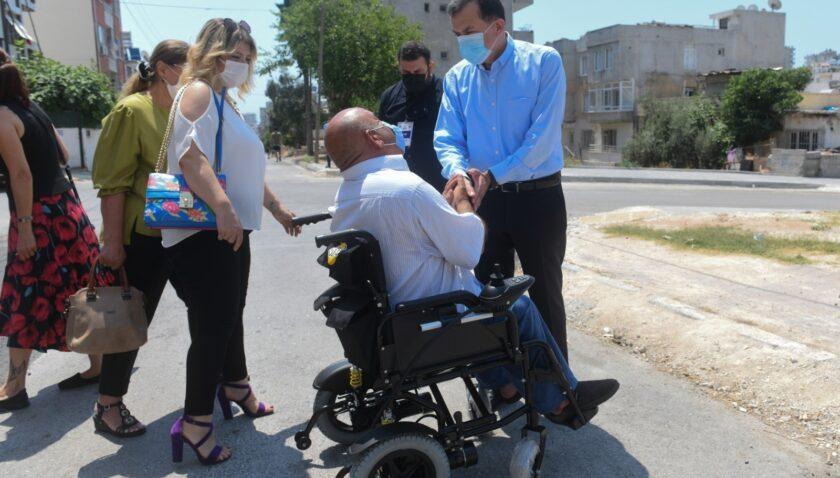 Yenişehir Belediyesinden engelli bireylere akülü sandalye
