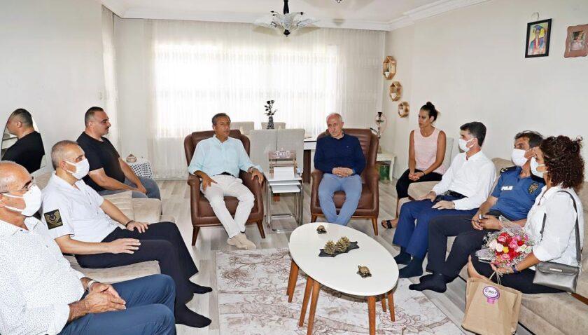 Başkan Gültak, şehit ailesi ve gaziye vefa ziyareti