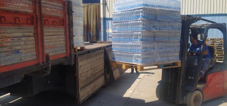 Mersinli işadamından yangın bölgesine su ve gıda desteği