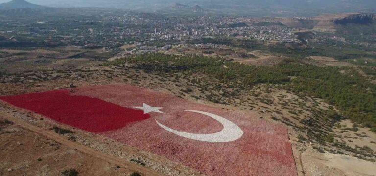 Dünyanın en büyük bayrağı boyanıyor